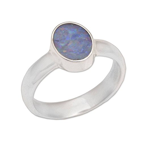 NOVICA Opal .925 Sterling Silver Ring ()