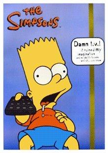 (25 x 35) The Simpsons Bart Simpson Damn TV poster (25x35)