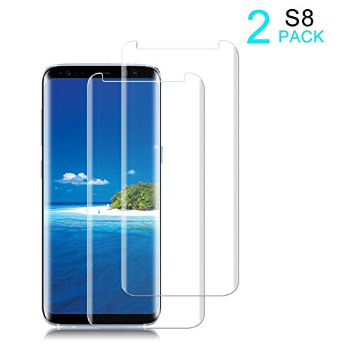 [2 Pack]Galaxy S8 Screen Protector [9H Hardness][Anti-Scratch][Anti-Bubble][3D Curved] [High Definition] [Ultra Clear] Tempered Auideas Glass Screen Protector for Samsung Galaxy S8