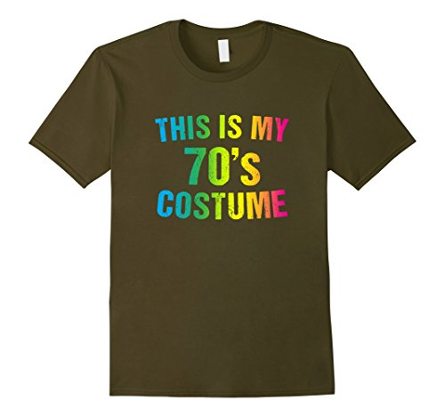 1970s Fashion Costumes (Mens 70s Costume Halloween T Shirt 1970s for Men Women Girls XL Olive)