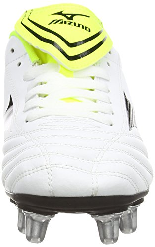 MizunoFortuna Rugby Sp - Zapatillas de rugby para hombre Blanco (White/Black/Yellow)