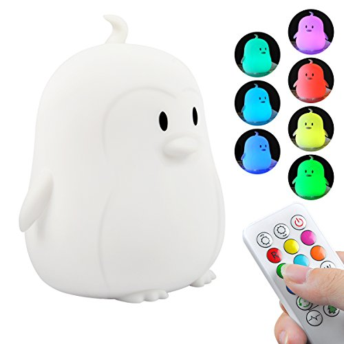 Kids Night Light, Portable Touch Sensor Remote Control LED Nightlight Multi-Color Lamp USB Rechargeable Silicone Lights 7 Color Changing Lamps for Kids Baby Bedroom Nursery Gifts Girls Women