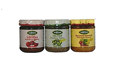 Mantova Mix Italian Bruschetta Topping Mixes (Pack of (Tomato Bruschetta Topping)