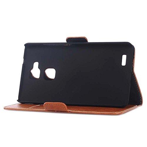 Funda Iphone, Textura de la piel del aceite horizontal Flip caja de cuero con ranuras para tarjetas y cartera y titular para Huawei Ascend Mate 7 ( Color : Dark Blue ) Brown