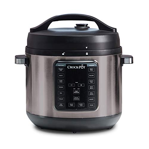 Crock-Pot 8-Quart Multi-Use XL Express Crock Programmable Slow Cooker and Pressure Cooker with Manual Pressure, Boil & Simmer, Black Stainless (Best Crock Pot Pressure Cooker)