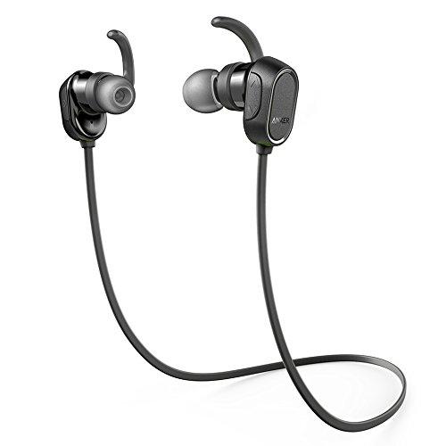 Anker SoundBuds Wireless Headphones - Bluetooth Black Water Resist Built in Mic