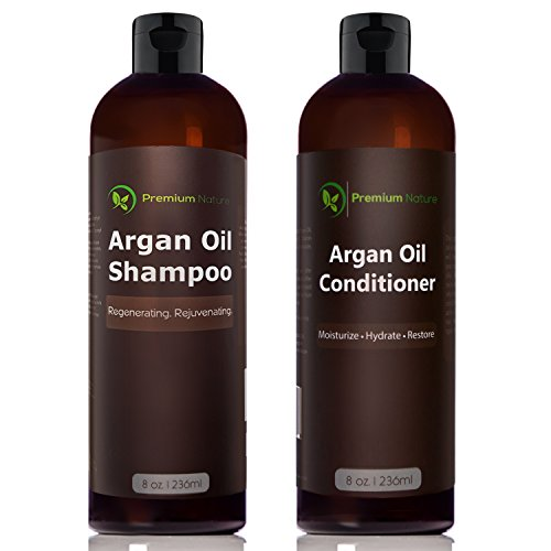Argan Oil Shampoo and Conditioner Set - ( 2x 8oz) (Oil Formula Hair Conditioner)
