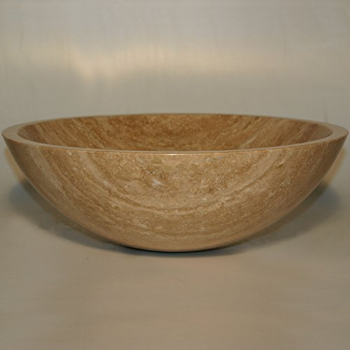 - Bathroom Travertine Stone Vessel Vanity Sink Bowl Lavatory Basin 29B