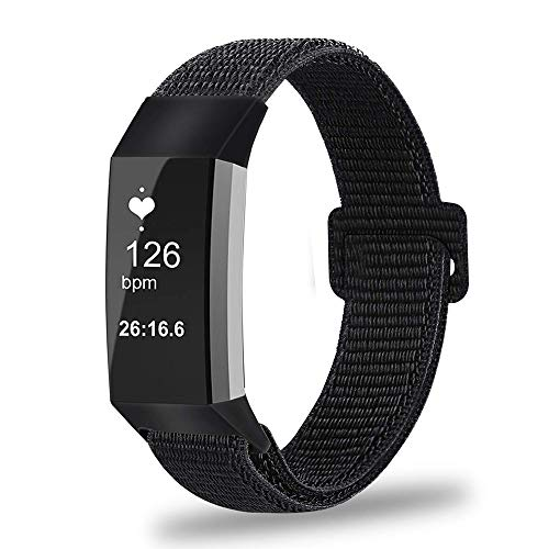 Fintie Fitbit Charge 3 Bands [Small], Replacement Accessory Strap Wristbands Women Men for Fitbit Charge 3 & Charge 3 SE Fitness Tracker, Black