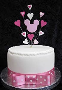 mice wedding cake toppers uk minnie mouse cake topper suitable for a small cake or 17334