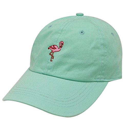 (City Hunter C104 Flamingo Small Embroidery Cotton Baseball Cap 13 Colors)