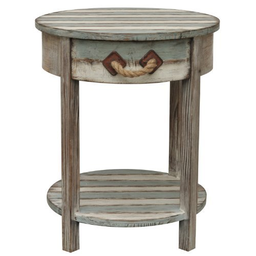 Crestview Collections Nantucket 1-Drawer Accent Table, Weathered Wood by Crestview Collection