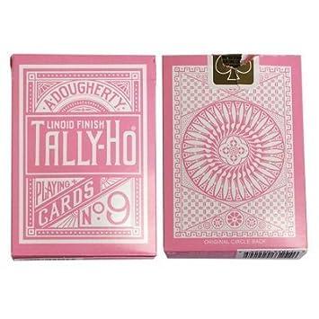 Juegos de cartas Bicycle - Tally Ho Reverse Circle Back Pink ...