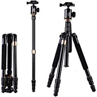 Professional Camera Tripod,LESHP Portable Aluminum Folding Premium Camera Traveler Tripod with 360 Degree Ball Head and Carrying Bag for SLR Cameras Canon Nikon Sony Sanmsung Olumpus