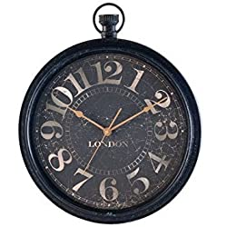 Ashton Sutton HOC013 QA Antique Pocket Watch Wall Clock, 22-Inch
