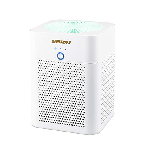Egofine HEPA Air Purifier, 3-in-1 Indoor Air Cleaner for Smoke, Dust, Pets, 3 Stage Filtration, Air Purifier with Air Quality Pollution Monitor for Home and Office White (Best Air Purifier For Pollution)