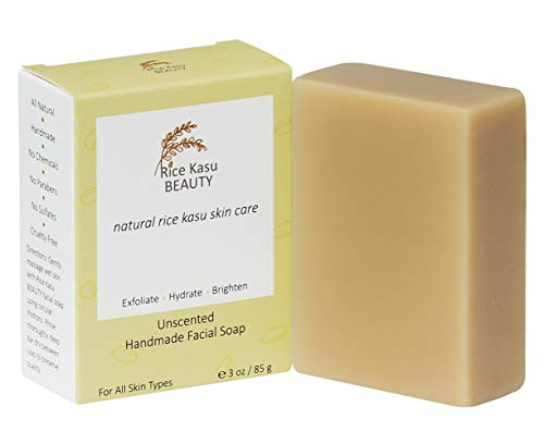 Rice Kasu Beauty Handmade Facial Soap, Unscented, 3 Ounce
