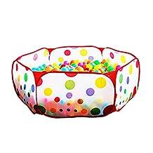 Jiyaru Kid Baby Play Tent Hexagon Ball Pit Playpen Play Pool Tent Playard 59IN