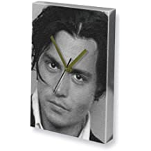 JOHNNY DEPP - Canvas Clock (A5 - Signed by the Artist) #js005