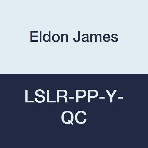 Eldon James LSLR-PP-Y-QC Polypropylene Standard Luer Thread Snap Lock Nut Pack of 100 Yellow