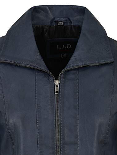 Ajuste Real Regular Chaqueta Mujer Cuero 880 Range Blue Para Formal Clásico Piel Smart De Cordero Suave Look Sky 8w0xq