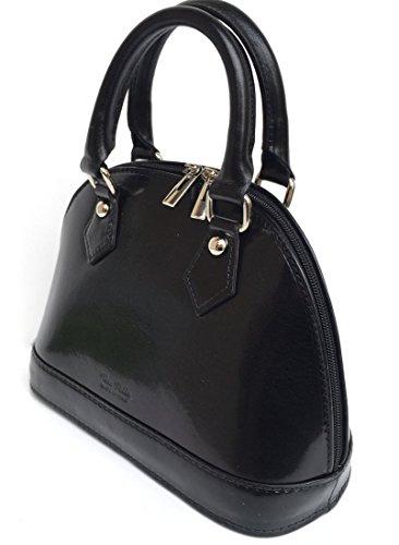 cuir Noir Fabriqué Madrid de qualité en en Sac haute main Modèl véritable a Mini Italie Cuir SUPERFLYBAGS wCTxIqa