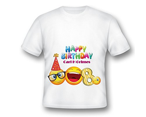 Personalized Emoji Birthday T-Shirt, Emoji Birthday Shirt, Emoji Tee Shirt, Printed Emoji Shirt, White Emoji TShirt, Birthday Shirt, Emoji Custom Shirt, Custom Shirt, emoji party shirt ()