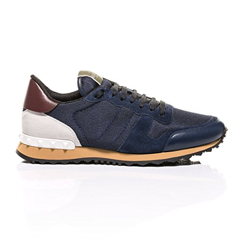 Valentino Navy Rockstud Sneakers buy cheap with paypal zGz8T1D