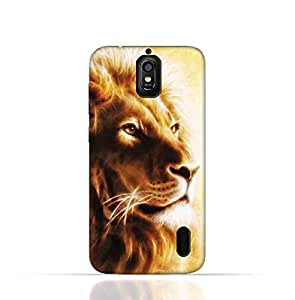 Hauwei Y625 TPU Silicone Case with Lion Portrait Air Brush Pattern