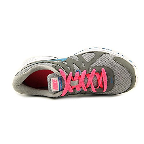Nike Women's Revolution 2 Wlf Grey/N Trq/Cl Gry/Dgtl Pink Running Shoe 8 Women US