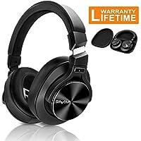 Aktive Noise Cancelling Kopfhörer,Srhythm NC75 Kabelloser Kopfhoerer Bluetooth mit Eingebauten Mikro,40mm Treiber,Faltbar für Reisen PC / Handy / TV