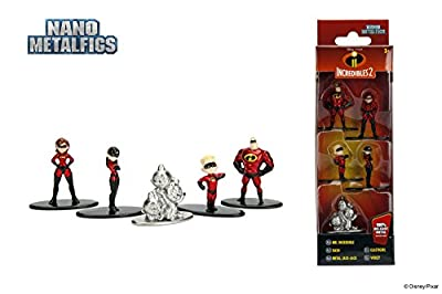 """Nano Metalfigs Disney Pixar Movie Incredible 2 Collectible Figures, 1.65"""", Multicolor"""