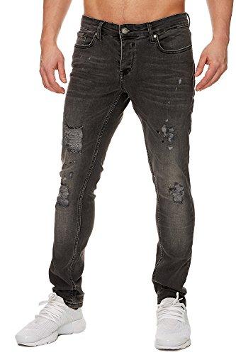 TAZZIO Slim Fit Herren Destroyed Look Stretch Jeans Hose Denim j-1001b