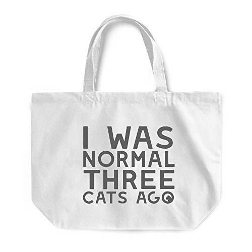 Three Cats Ago Maxi Bag Funny Cat Lover Crazy Lady Gift Present Beach Tote White