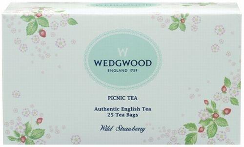 Wedgwood Wild Strawberry Picnic Teabags (Box of 25), White