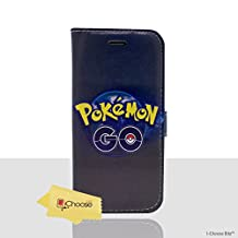 """iPhone 6/6s (4.7"""") Pokemon PU Leather Flip Wallet Phone Case / Cover with Magnetic Strap for Apple iPhone 6S 6 (4.7"""") / Screen Protector & Cloth / iCHOOSE / Poke Go"""