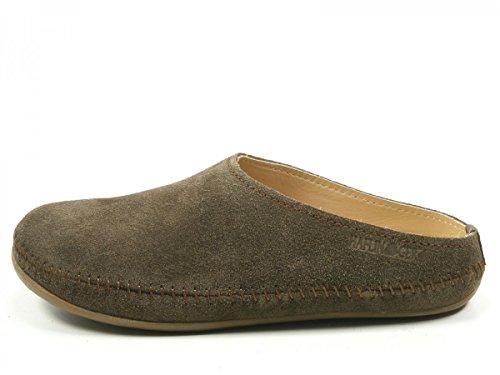 Haflinger 488023-0 Everest Softino Damen Hausschuhe Pantoffeln Leder , Schuhgröße:41;Farbe:Beige