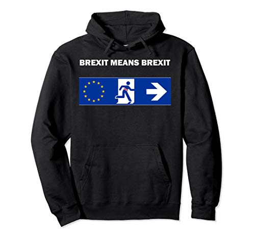 Britain UK European Union Boris Johnson Brexit Means Brexit Pullover Hoodie (Jumper Anti Christmas Uk)