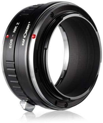 K/&F Concept Lens Adapter Ring for Canon EOS EF EF-S to Nikon Z Mount Z50 Z6 Z7 Camera