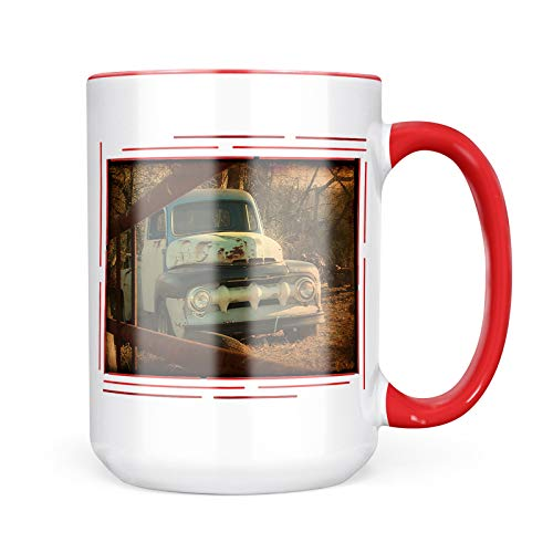 Neonblond Custom Coffee Mug Cars/Classic/Hot Rod 50 15oz Personalized Name