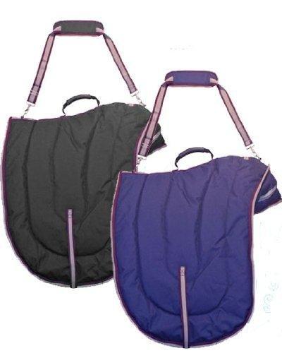 Derby Originals English Dressage Horse Saddle Padded Carry Bag- Black ()