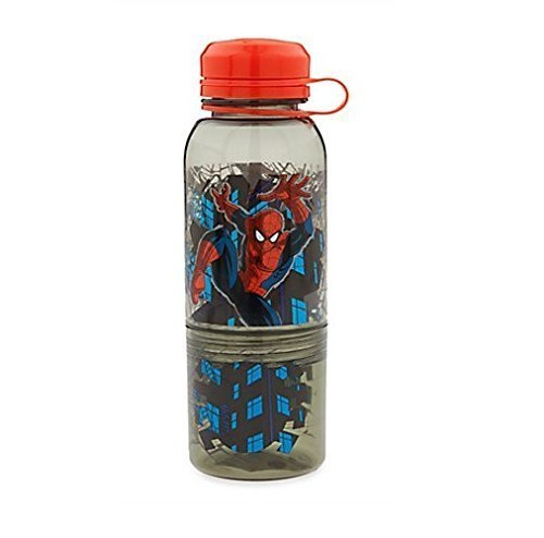 Disney Store Boys Spider-Man ''Double-fisted'' Snack Bottle