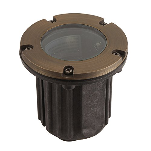 Liberty LBE-202-AB 12V Cast Brass Well/in-ground Light - LED Compatible Landscape Light, Antique Bronze