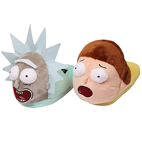 Bioworld 3D Scuff Slippers Rick and Morty Besties Large from Bioworld