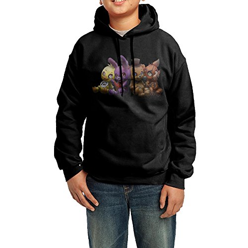 Funny Black Sweatshirts 90s Five Nights At Freddy's Hooded Sweatshirt For Youth's
