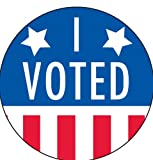 I Voted Stickers/Labels - 2' in diameter, 1000 labels per roll