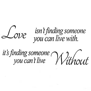 Love Without Quote Sticker wall Sticker Decal Mural Self Adhesive