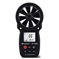 Holdpeak HP-866B Digital Handheld Anemometer for Measuring Wind Speed, Temperature and Wind Chill with Backlight from ZhuHai JiDa HuaPu Instrument Co.,Ltd