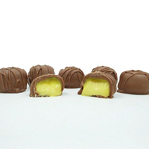 Philadelphia Candies Homemade Lemon Creams, Milk Chocolate 1 Pound Gift - Dark Chocolate Lemon Truffles