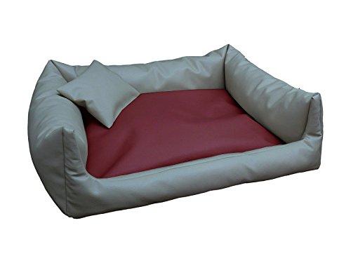 consegna lampo Divano per cani Rex sonno Piazza Cuccia Cuscino Cuscino Cuscino per Cani cestino cani divano + Cuscino Taglie  S – XXL (L – 80 x 100 cm, Grigio Bordeaux)  più ordine